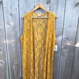 NWT Lularoe Mustard Lace Joy